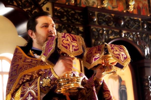 «Литургия в храме св. вмч. Георгия Победоносца»